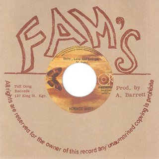 """7inch """"Horace Andy """" Unity ,Love And Strength / I Stand Before You"""