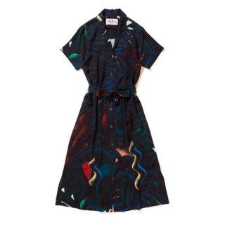 "Aloha Blossom "" Okinawa Zilla "" Shirts Dress (10th Anniversary Limited Item)"