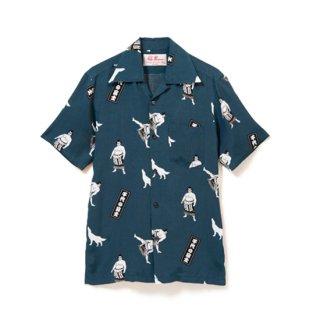 "Aloha Blossom "" Chiyonofuji "" Aloha Shirts / Navy (10th Anniversary Limited Item)"