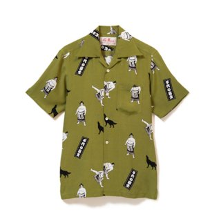 "Aloha Blossom "" Chiyonofuji "" Aloha Shirts / Kahki (10th Anniversary Limited Item)"