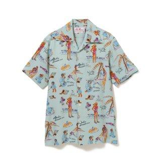 "Aloha Blossom "" Ryukyu Souvenir"" Aloha Shirts / Mint (10th Anniversary Limited Item)"