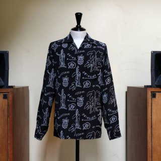 "Aloha Blossom "" Hawaiian "" LS / Black White (10th Anniversary Limited Item)"