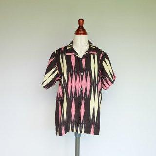 """Aloha Blossom """" Minsa Argyle """" Kids Aloha Shirts / pink"""