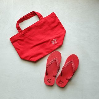 """Brown and Dennis """" Beach Sandals """" Red"""