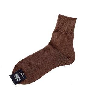 "Halison ""Washi Rayon Short Socks  "" Brown"