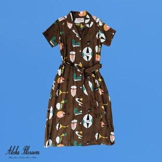 "Aloha Blossom "" Atomic Dress"" Alphonso Only Color Dark Brown"