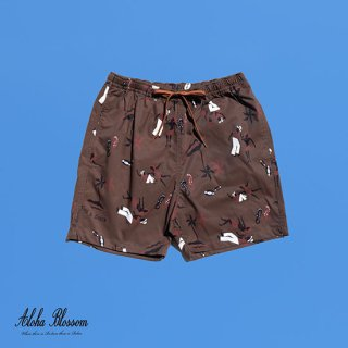 "Aloha Blossom "" King &Queen Beach Shorts""  Alphonso limited Item"
