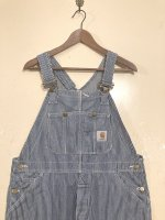 USED CARHARTT HICKORY OVERALL