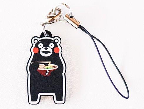 くまモンのストラップ|熊本ラーメン