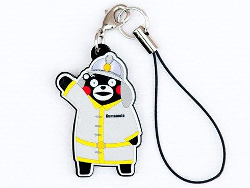 くまモンのストラップ|消防士