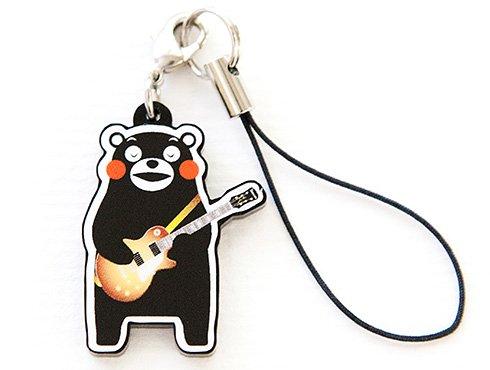 くまモンのストラップ|ギター 茶色
