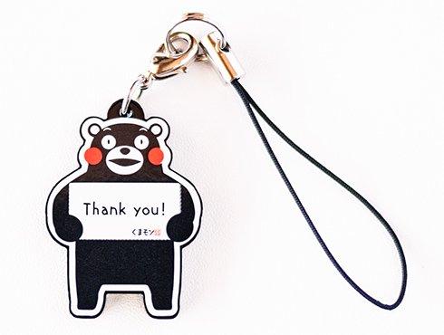 くまモンのストラップ|Thank you!