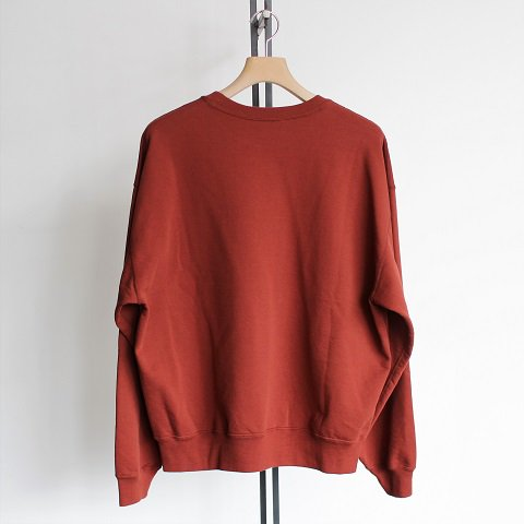 【AURALEE オーラリー】 <br>Super Soft Sweat Big P/O<br>-Women-<br>《BRICK RED》