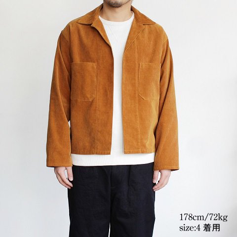 【AURALEE オーラリー】 <br>Washed Corduroy Shirts Jacket<br>-Men-<br>《CAMEL BROWN》