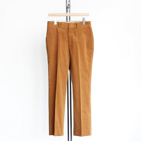 【AURALEE オーラリー】 <br>Washed Corduroy Slacks<br>-Men-<br>《CAMEL BROWN》