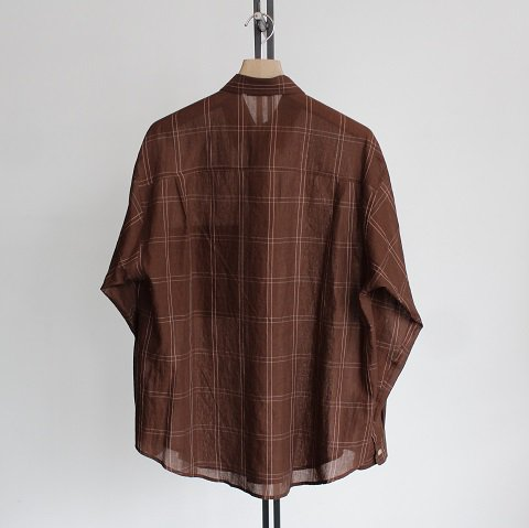 【AURALEE オーラリー】 <br>Super Light Check Big Shirts<br>-Men-<br>《BROWN WINDOWPANE 》