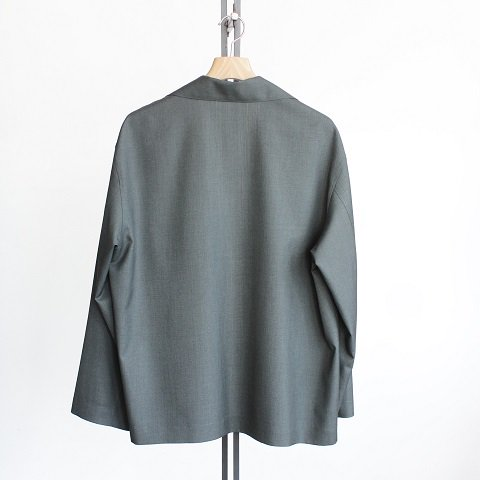 【AURALEE オーラリー】 <br>Wool Silk Tropical Shirts Jacket<br>-Men-<br>《OLIVE》