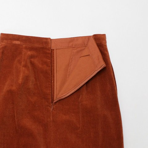 【AURALEE オーラリー】 <br>Corduroy Slit Long Skirt<br>-Women-<br>《BRICK RED》