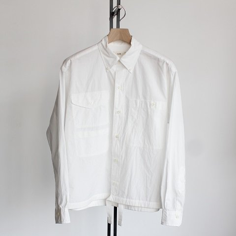【unfil アンフィル】 <br>Drawstring Shirts<br>《WHITE》<img class='new_mark_img2' src='//img.shop-pro.jp/img/new/icons20.gif' style='border:none;display:inline;margin:0px;padding:0px;width:auto;' />