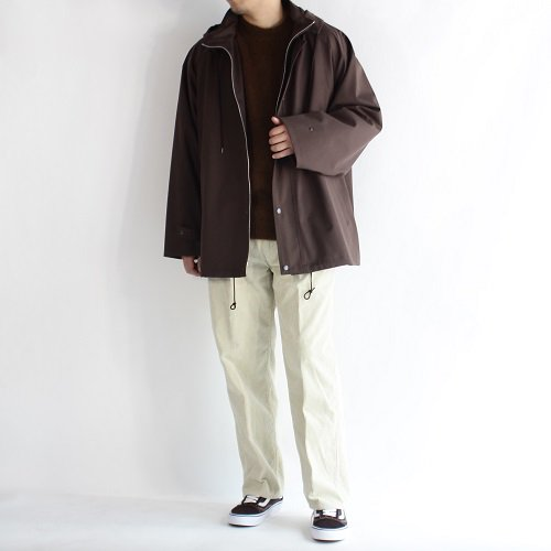 【AURALEE オーラリー】LIGHT WOOL MOHAIR BLOUSON -MEN- / BROWN HERRINGBONE