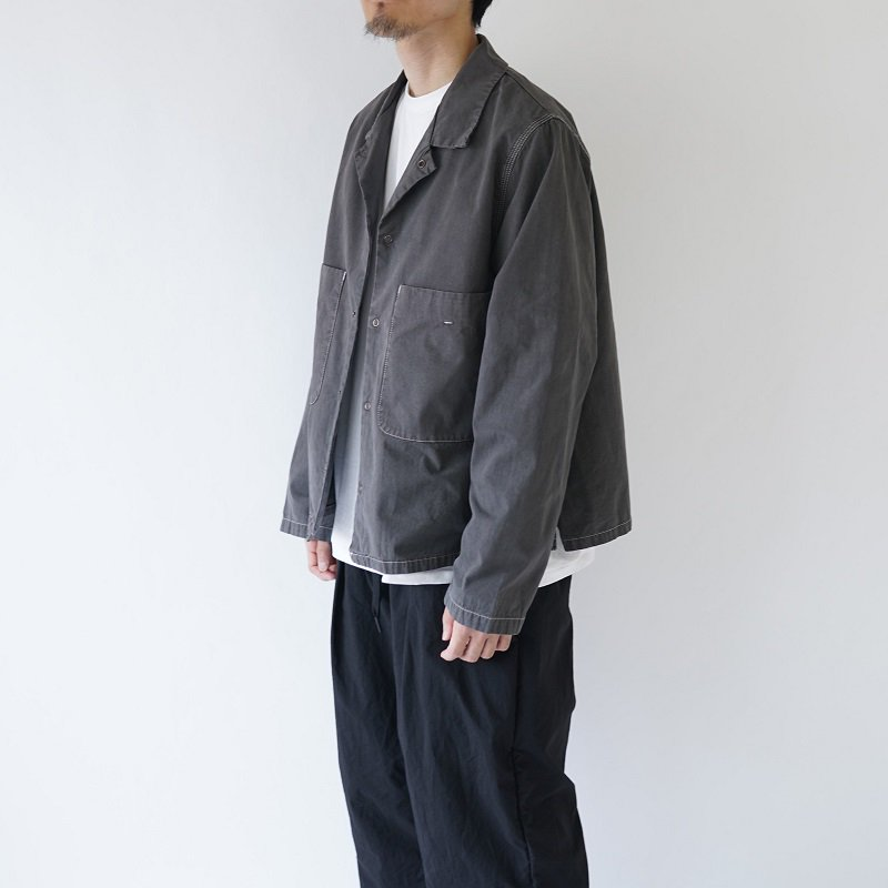 【bukht ブフト】 WORK SHIRTS -PIGMENT DYED- / CHARCOAL<img class='new_mark_img2' src='https://img.shop-pro.jp/img/new/icons20.gif' style='border:none;display:inline;margin:0px;padding:0px;width:auto;' />