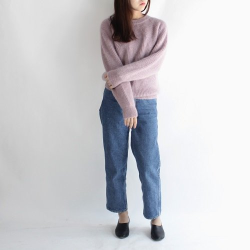 【BATONER バトナー】FLUFFY CREWNECK -WOMEN- / PALE PINK