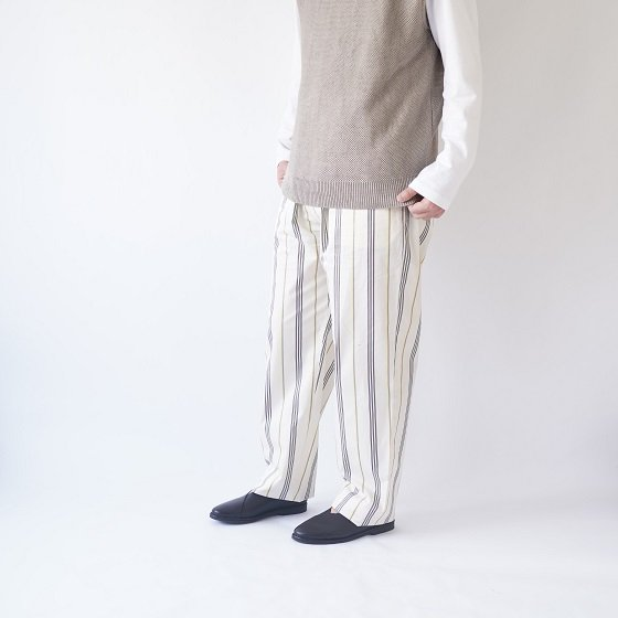 【WELLDER ウェルダー】DRAWSTRING EASY TROUSERS / IVORY