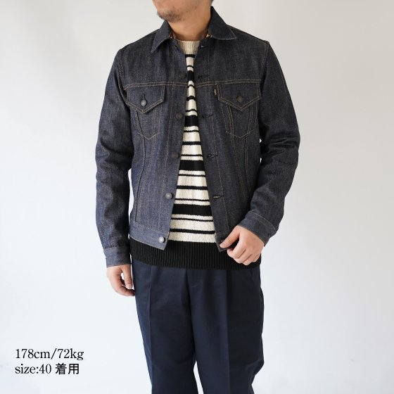 【SCYE サイ】SANJOAQUIN DENIM DETACHABLE COLLAR JACKET / INDIGO