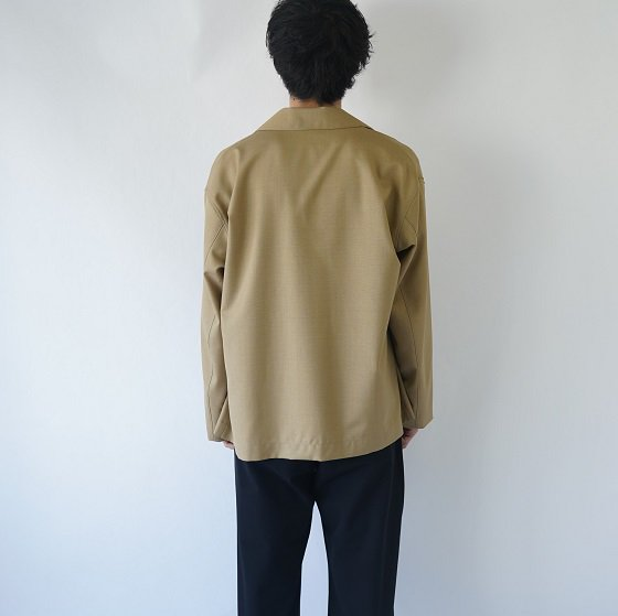 【AURALEE オーラリー】 WOOL SILK TROPICAL SHIRTS JACKET / TOP BEIGE