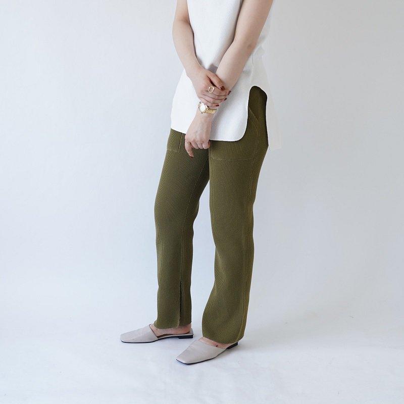 【PHEENY フィーニー】BIG WAFFLE SLIT PANTS / OLIVE
