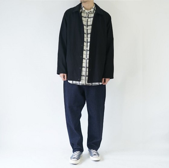 【YAECA ヤエカ】COMFORT SHIRTS WIDE RS / D.NAVY