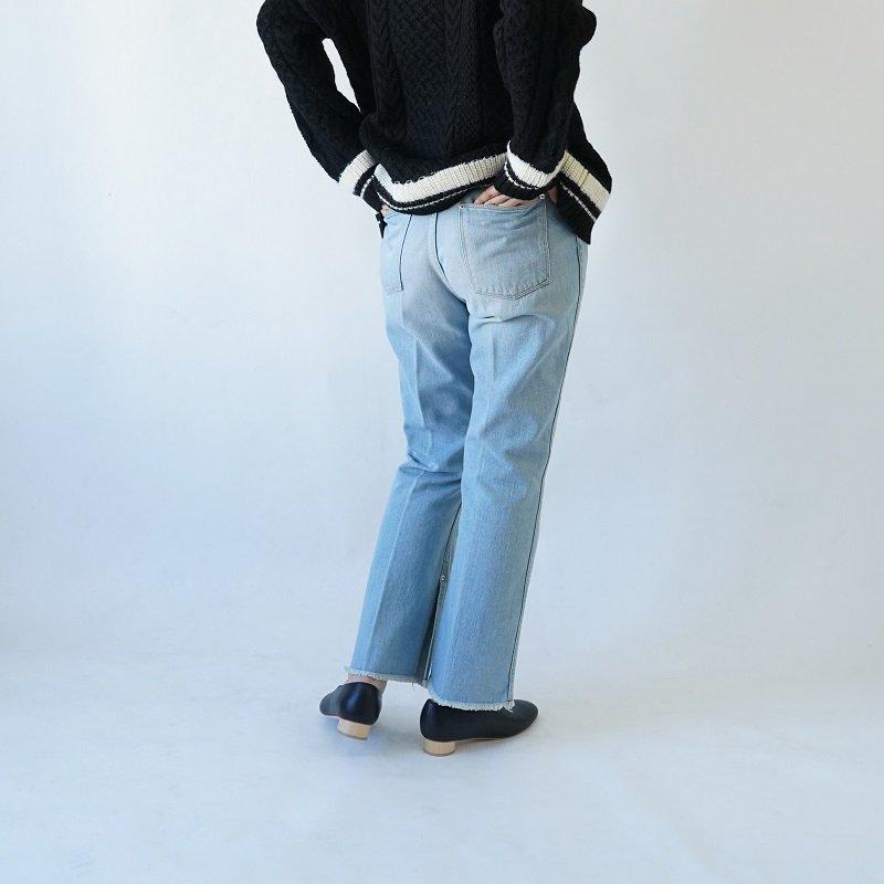 【PHEENY フィーニー】13OZ VINTAGE DENIM CENTER PRESS PANTS / BLUE