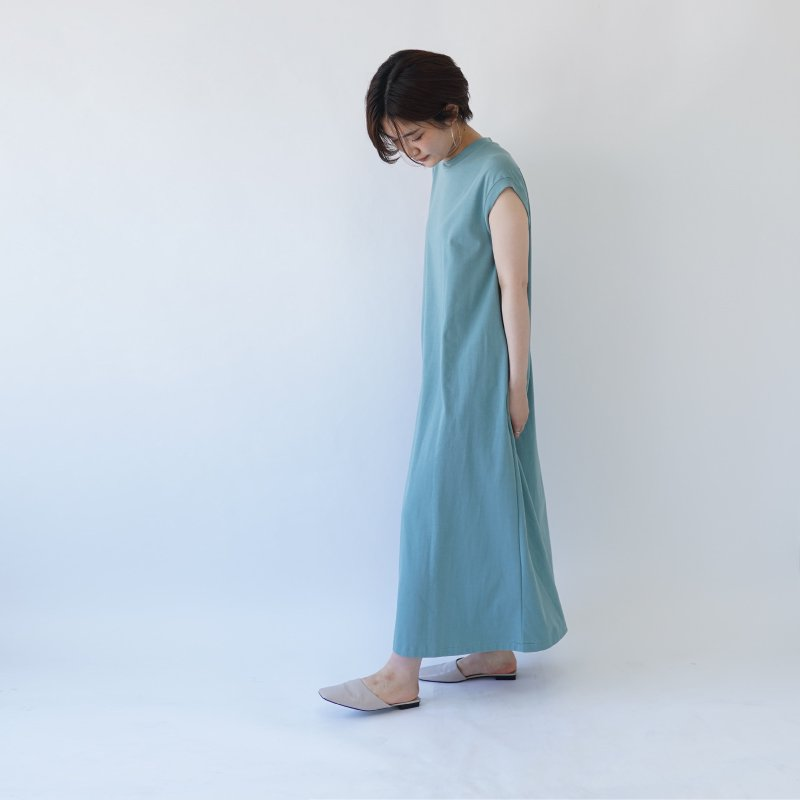 【SCYE サイ】FRENCH SLEEVE MAXI DRESS / SAGE GREEN