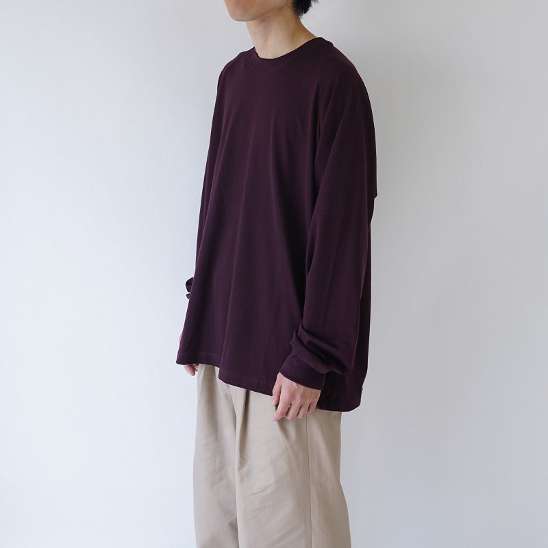 【URU  ウル】COTTON L/S TEE / BURGUNDY<img class='new_mark_img2' src='https://img.shop-pro.jp/img/new/icons20.gif' style='border:none;display:inline;margin:0px;padding:0px;width:auto;' />