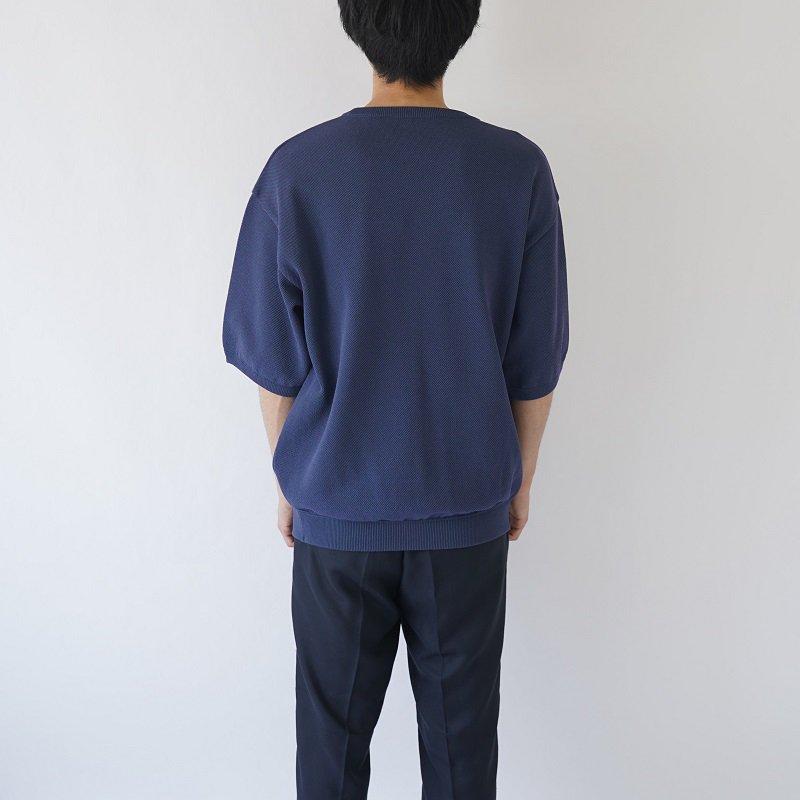 【crepuscule クレプスキュール】S/S KNIT -MEN- / BLUE GREEN