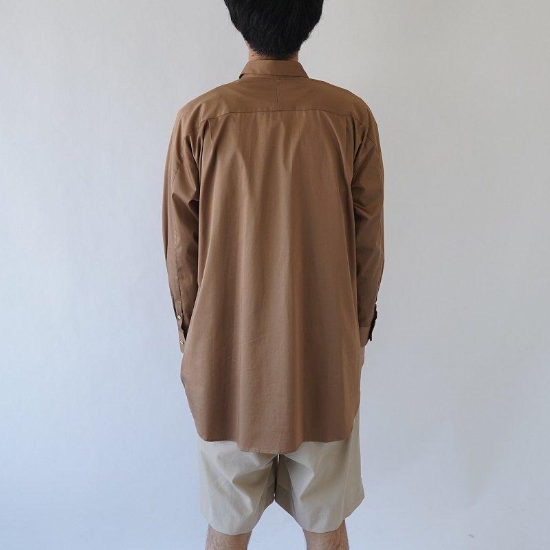 【Dulcamara ドゥルカマラ】ヨークスリーブシャツ-C / LIGHT BROWN