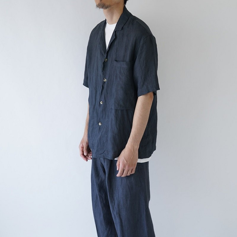 【Lane Forty Five レーン45】LAPELLED SHIRT / DARK GRAY