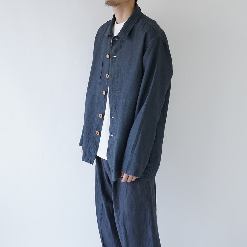 【Lane Forty Five レーン45】SUMMER OVERSHIRT / DARK GRAY<img class='new_mark_img2' src='https://img.shop-pro.jp/img/new/icons20.gif' style='border:none;display:inline;margin:0px;padding:0px;width:auto;' />