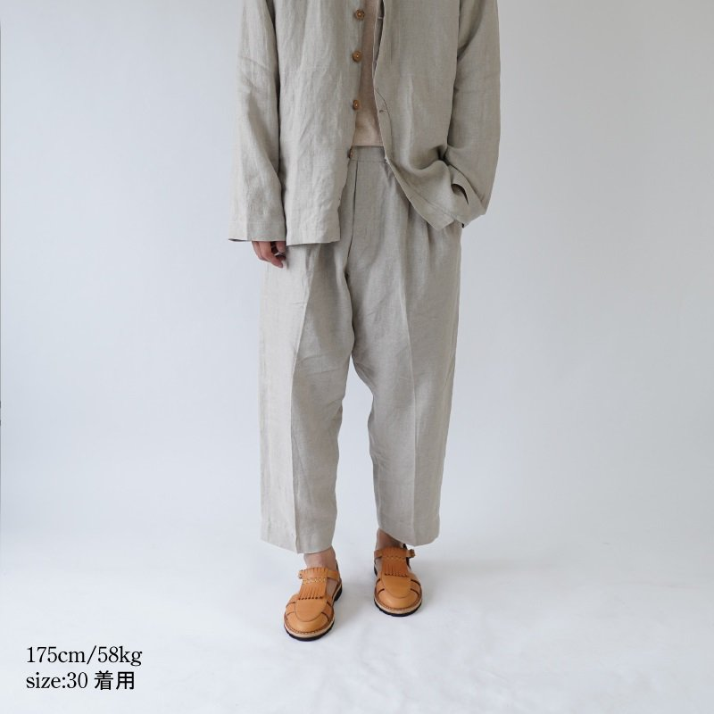 【Lane Forty Five レーン45】TROUSERS / NATURAL<img class='new_mark_img2' src='https://img.shop-pro.jp/img/new/icons20.gif' style='border:none;display:inline;margin:0px;padding:0px;width:auto;' />