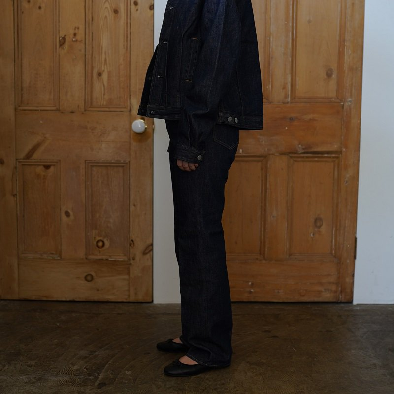 【AURALEE オーラリー】HARD TWIST DENIM 5P PANTS -WOMEN- / INDIGO