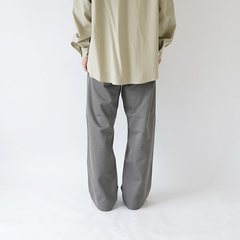 【AURALEE オーラリー】WASHED FINX POLYESTER CHINO PANTS -MEN- / MIX OLIVE