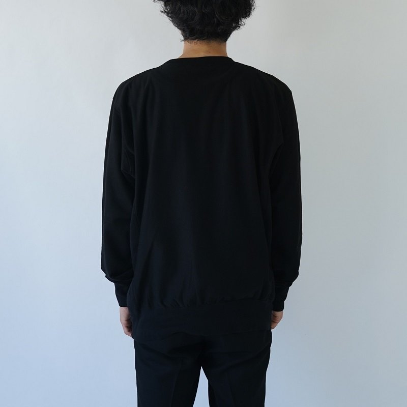 【AURALEE オーラリー】SUPER HIGH GAUGE SWEAT P/O -MEN- / BLACK
