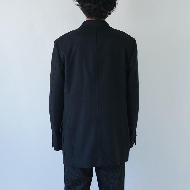 【AURALEE オーラリー】LIGHT MELTON HALF COAT -MEN- / INK BLACK