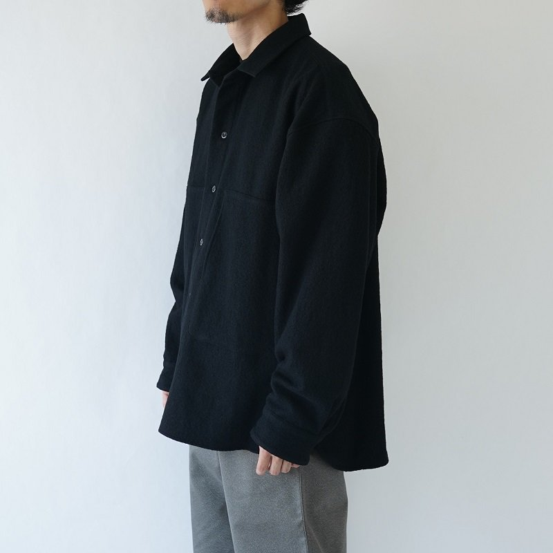 【POLYPLOID ポリプロイド】SHIRT JACKET C / BLACK