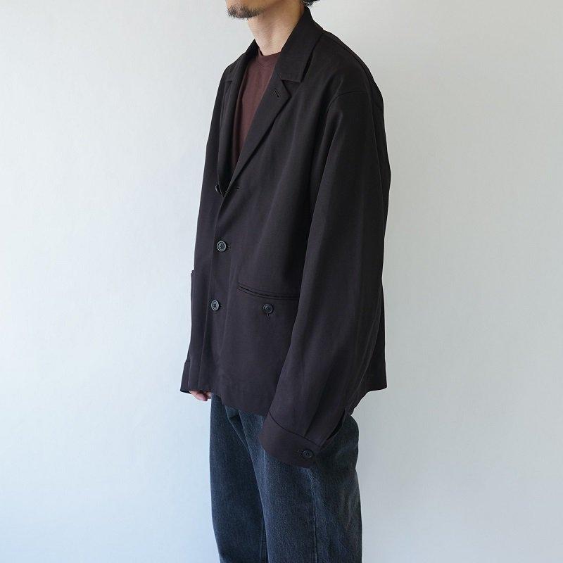 【URU  ウル】COTTON RAYON JACKET / BROWN