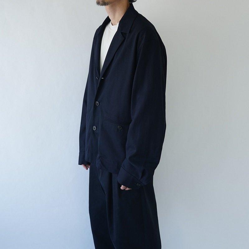 【URU  ウル】COTTON RAYON JACKET / NAVY