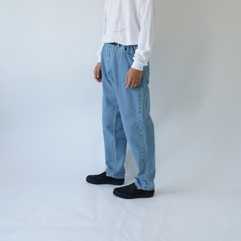 【URU  ウル】DENIM EASY PANTS -TYPE A- / L.INDIGO