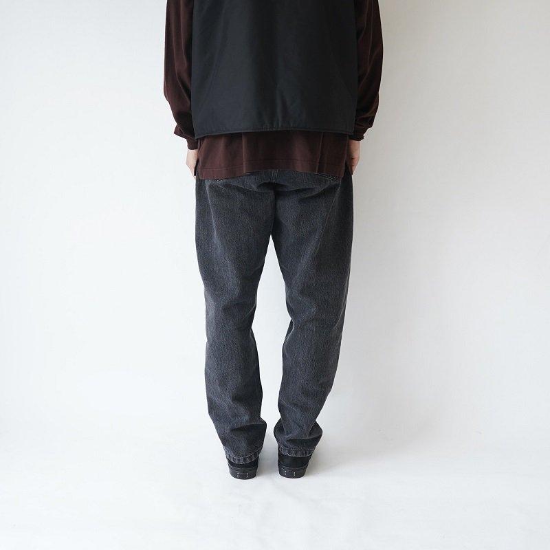 【URU  ウル】DENIM EASY PANTS -TYPE B- / L.BLACK