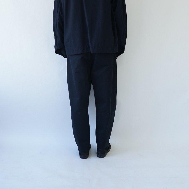 【URU  ウル】COTTON 2 TUCK PANTS / BLACK