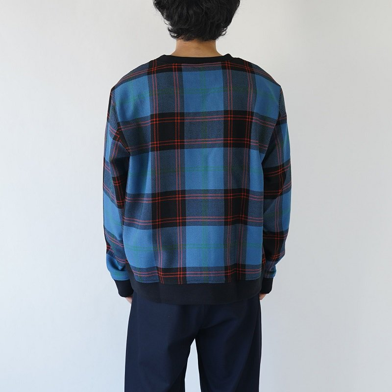 【POLYPLOID ポリプロイド】CREWNECK PULLOVER B / BLUE CHECK